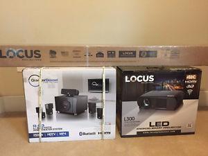 luminar l800 4k led smart projector review