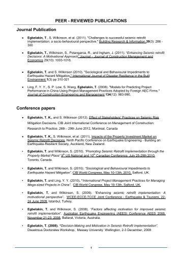 web of science peer reviewed journals