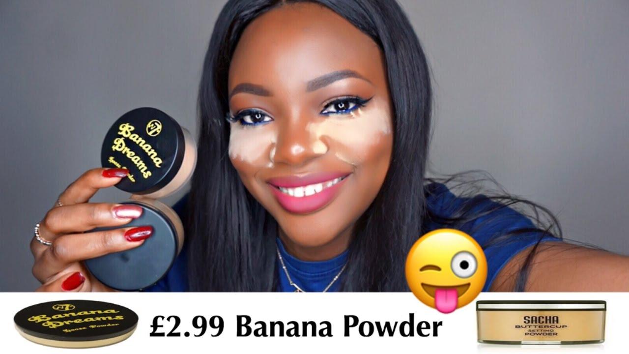 w7 banana dreams powder review